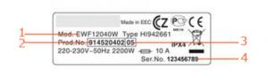 modello etichetta electrolux
